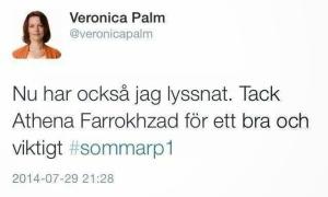 Veronica Palm Twitter