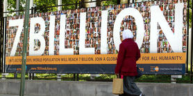 According to UNFPA, on 31 October 2011 the world's population reached 7,000,000,000.