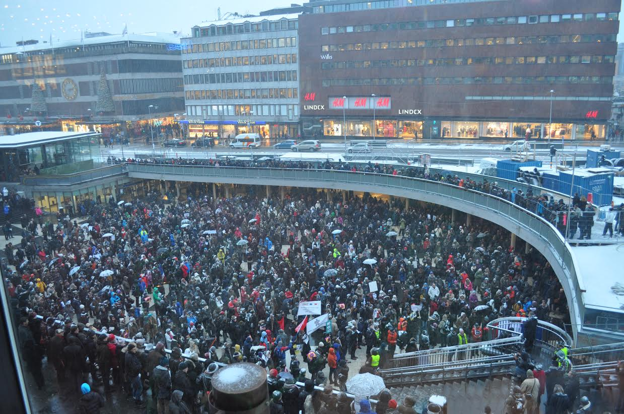 Demonstrationer pa sergels torg
