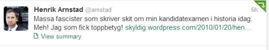 Henrik Arnstad Twitter