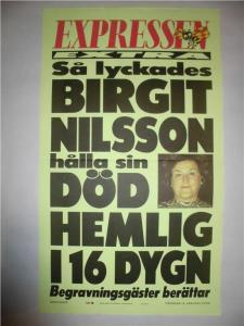 Birgit Nilssons Död