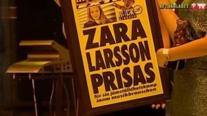 Zara Larsson Löpsedel