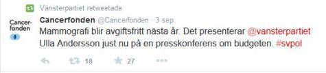 Ulla Andersson Vänsterpartiet