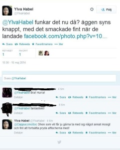Tweet Ylva Habel