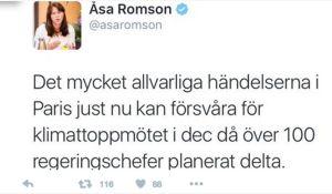 Åsa Romson Tweet