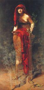 John Collier Oraklet i Delfi