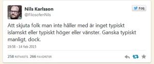 Nils Karlsson Tweet