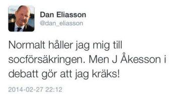 Dan Eliasson Tweet