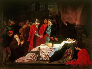 Frederic Leighton - The Reconciliation of the Montagues and the Capulets over the Dead Bodies of Romeo and Juliet