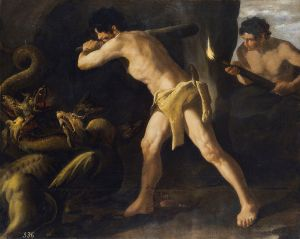 Hércules lucha con la hidra de Lerna, por Zurbarán