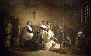 Soyer Repetition dans la sacristie avant la messe