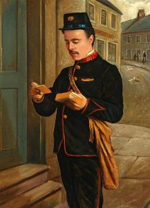 Thomas Patterson Portrait of a postman